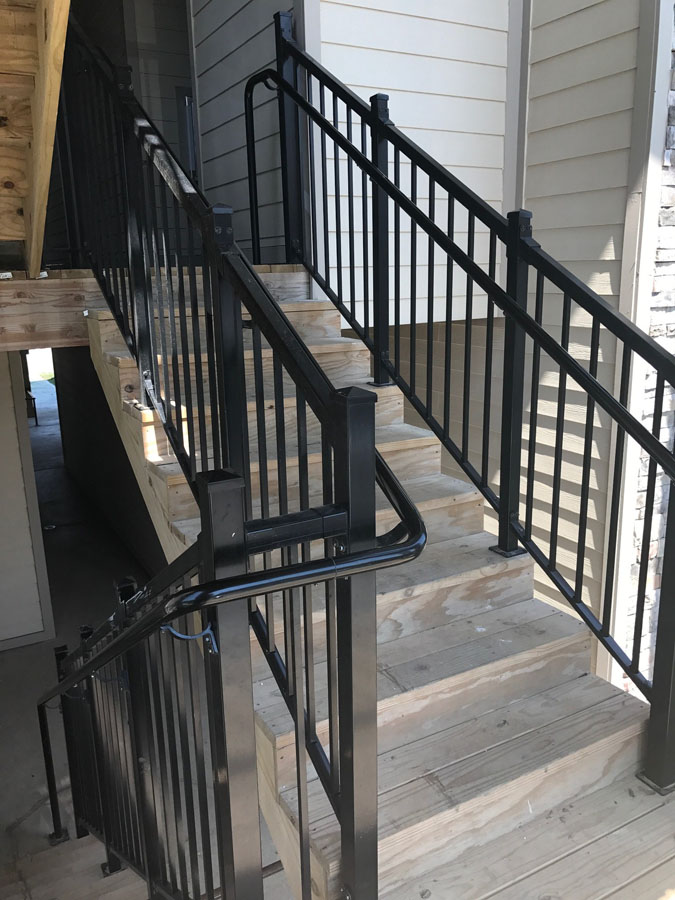 simple to assemble exterior railing