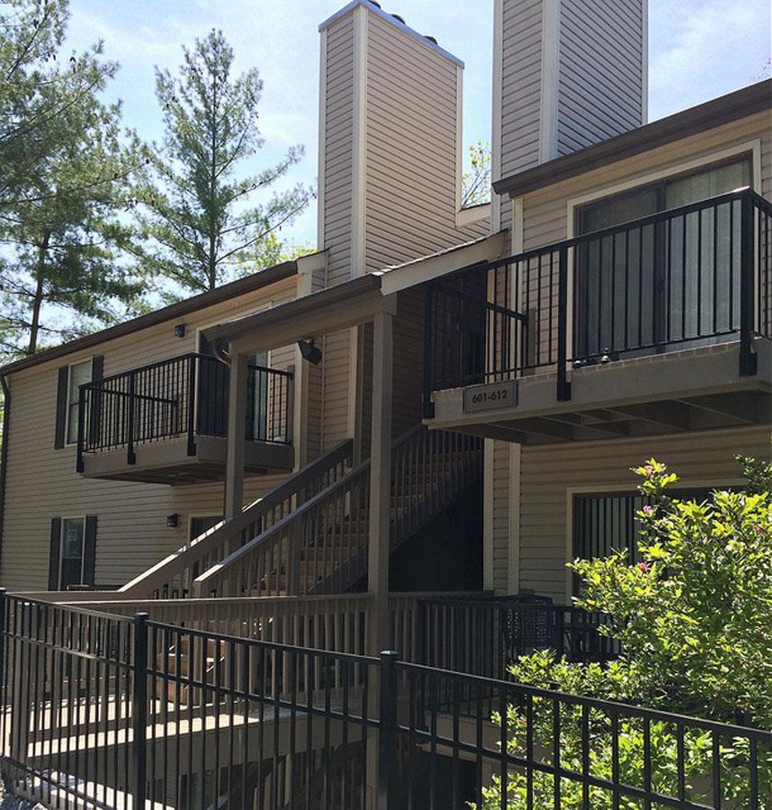 commercial metal railings