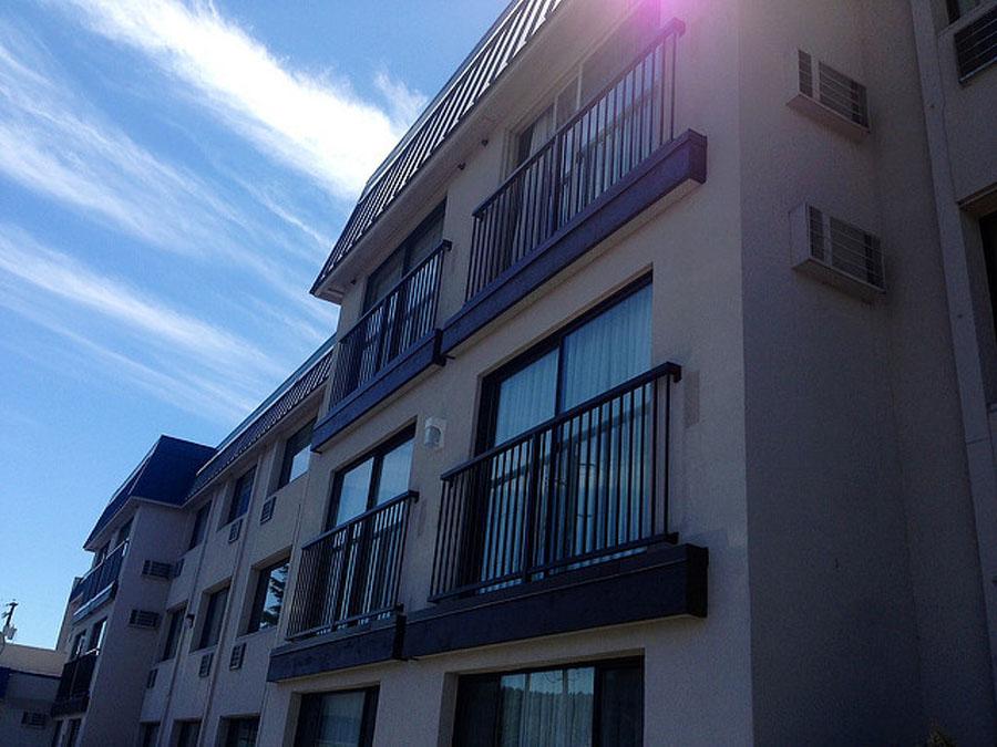 black window railings
