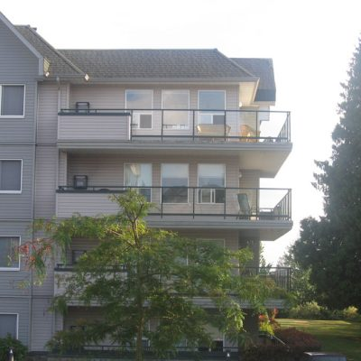 Glass railings in Abbotsford, BC