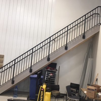 Fascia mounted stair rail