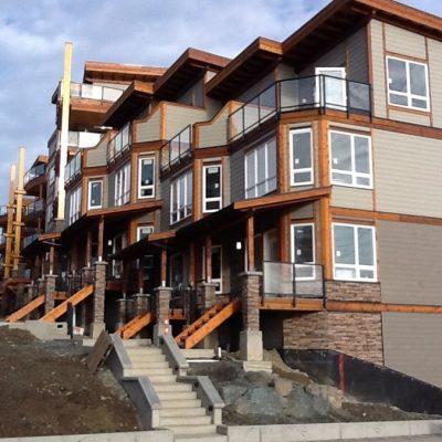 Glass railings in Sooke, BC